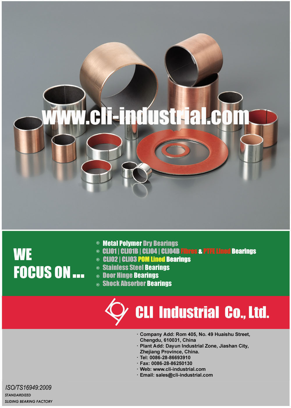 Metal Polymer Dry Bearings