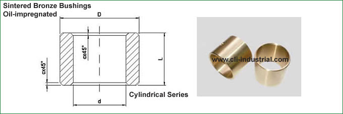 Sintered Bronze Cylindrical Bushings