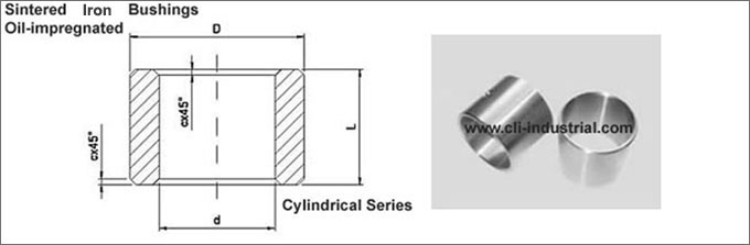 Iron Cylinrical Bushings