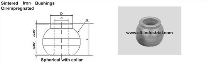 Iron Spherical Bushings with Collar