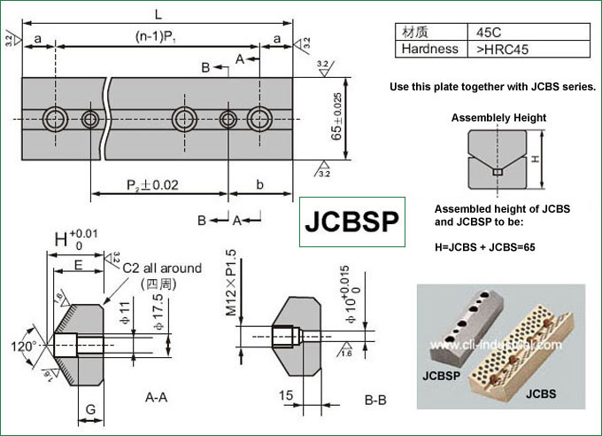 JCBSP Oilless Cam Side Block